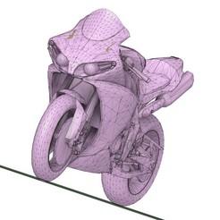 yzf 1.jpg Télécharger fichier STL Yamaha YZF R1 SBK • Objet pour imprimante 3D, peterstevpt