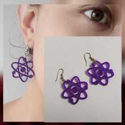 AretesAtomo.jpeg Télécharger fichier STL gratuit Boucles d'oreilles Atomo • Design à imprimer en 3D, chucherias3D