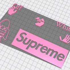 kaws off white supreme capture.JPG Télécharger fichier STL off white kaws supreme • Modèle à imprimer en 3D, nolanneuser