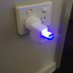 Free 3d printer files USB Night Light, project3dprint