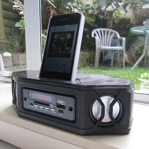 Free 3d printer files Portable Bluetooth Stereo Speaker, project3dprint