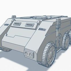 11.jpg Download free STL file Wh40k Rhino APC Wheeled 6x6 Remix • Design to 3D print, Rabe_KhUA