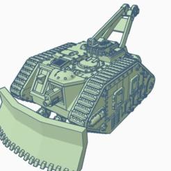 "1.png Télécharger fichier STL gratuit Leman Russ Atlas Recovery Tank ""Mark III"" remix 28mm • Objet à imprimer en 3D, Rabe_KhUA"