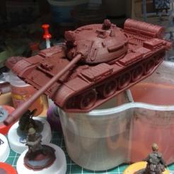 1.png Télécharger fichier STL gratuit T-55 soviétique 28mm Bolt Action • Modèle à imprimer en 3D, Rabe_KhUA