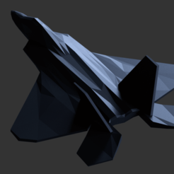8.png Download OBJ file F22 Raptor Lowpoly 3d Print 3D print model • 3D print design, umarmomin474