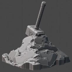 untitled5.jpg Download STL file Mjolnir • 3D printer template, umarmomin474