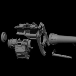exploded.jpg Download STL file Chaos Knight Battle Cannon • 3D printing template, Baron_von_Beef