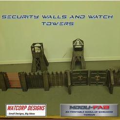 2.JPG Télécharger fichier STL Murs modulaires, portes et tours de garde STL • Plan imprimable en 3D, Baron_von_Beef