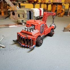 20191003_062025.jpg Download STL file Tabletop Wargames - Technical, Weapon rear and Tow Truck rears • 3D printer model, Baron_von_Beef