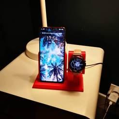 IMG_20201107_175407.jpg Télécharger fichier STL gratuit Support téléphone-galaxy Watch 3 • Objet pour impression 3D, sylfu