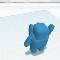 Capture d'écran 2020-05-01 à 14.51.32.png Download STL file bonhomme astronaute bleu foncé • 3D printable template, LESUPER