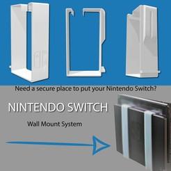 Télécharger fichier STL Nintendo switch Dock support mural, support mural • Plan imprimable en 3D, AnxietyLabs