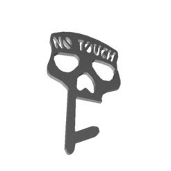 Télécharger fichier STL Porte-clé de sécurité sans contact Skull Covid • Objet imprimable en 3D, AnxietyLabs