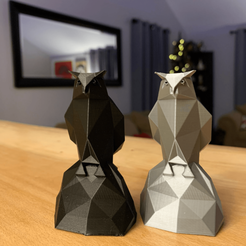 cyber-owl-statues.png Download STL file Cyber Owl Statue • 3D printer model, McHoffa