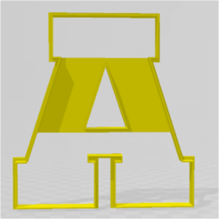 LETRA A.png Download STL file MUMMY SHARP LETTERS • 3D printable object, JOA3D