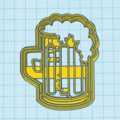 JARRA CERVEZA.png Descargar archivo STL jarra de cerveza cortante estampa para galletita • Objeto para imprimir en 3D, JOA3D