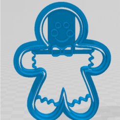 muñeco de jengibre.png Download STL file cookie-cutter gingerbread doll • Object to 3D print, JOA3D