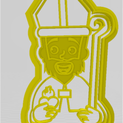 san agustin.png Download STL file SAINT AUGUSTINE CUTTER, STAMP • 3D printer object, JOA3D