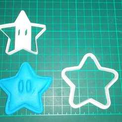 Download STL files MARIO GALLETITA CUTTING STAR, GABI3D