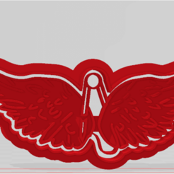 ALAS CASI ANGELES1.png Download STL file almost-angel wings model 1 cutter/cookie stamp • 3D printable model, JOA3D