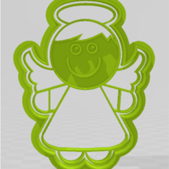 ANGELITO1.png Download STL file cookie cutter angel model 1 • 3D printing model, JOA3D