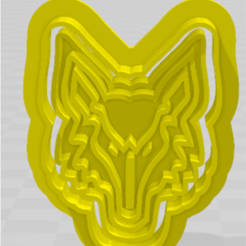 lobo.png Download STL file cutting wolf / stamping • 3D printer object, JOA3D