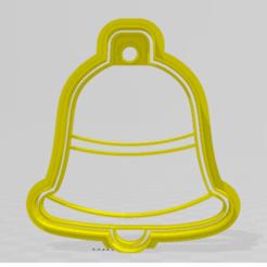 campa navidad, cortante estampa.png Télécharger fichier STL Souffleuse / Clochette de Noël, emporte-pièce • Objet pour impression 3D, JOA3D
