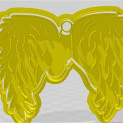 casi angeles modelo 2.jpg Download STL file almost angel wings model 2 cutting / stamping • 3D print template, JOA3D