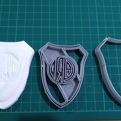 Download 3D printer templates River Plate shield, GABI3D