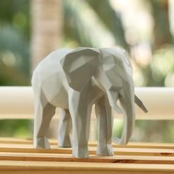 DUDECOR--Elefante-Geométrico-Cinza-01.jpg Download OBJ file Elephant Geometric • 3D printer object, Dudecor