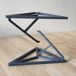 Photo_2.jpg Télécharger fichier STL gratuit Tensegrity - Table impossible (Fil et tendeur cachés) • Design pour impression 3D, louisnairaud