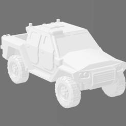 MRAV 4X4 - 4 DOOR TRUCK 1.PNG Télécharger fichier STL MRAP/MRAV Camion moyen 4 portes • Design pour imprimante 3D, Ronnie3D