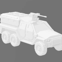 MRAV 6X6 - TROOP CARRIER 1.PNG Télécharger fichier STL MRAP/MRAV 6x6 Transporteur de troupes • Objet pour imprimante 3D, Ronnie3D