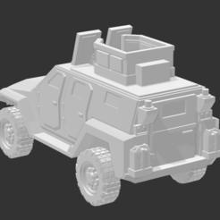 MRAV 4X4 - WITH TURRET 21.PNG Télécharger fichier STL MRAP/MRAV avec tourelle. • Objet imprimable en 3D, Ronnie3D
