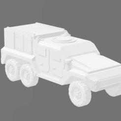 6X6 MEDIUM TACTICAL VEHICLE - ARTILLERY 1.PNG Download STL file 6x6 Medium Tactical Vehicle - Artillery • 3D printable model, Ronnie3D
