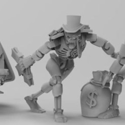 Payed_Ones_lineup.JPG Download free STL file Space Zombies Payed Ones • 3D printer model, Overpimp_Shabakalaka
