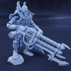RoyalWardenRendered Profile.png Download STL file Space Zombies Regal Jailer • 3D printing design, Overpimp_Shabakalaka