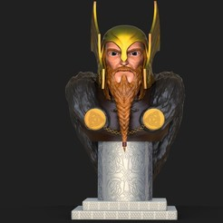 Download 3D printing files Bust of Thor, N34RD347H