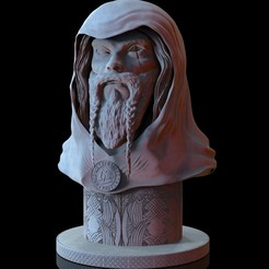 Download 3D printer designs Bust of Odin, N34RD347H