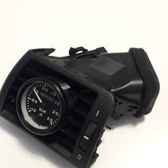 01.jpg Download STL file Air pod boost gauge 52mm  BMW E46 • Design to 3D print, GABRIEL_POP