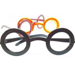 jouet-lunettes-enfants-impression-3d-harry-potter-00.jpg Télécharger fichier STL Lunettes Harry Potter pour enfants (4-12 ans) • Design pour impression 3D, COBRA3D