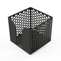 bloc-cube-memo-notes-3d-01.png Download STL file Memo / note cube - 102 x 102 mm • 3D printer template, COBRA3D