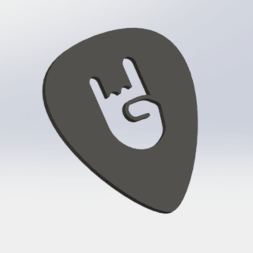 Download free 3D printer designs Guitar Pick, matthainsie