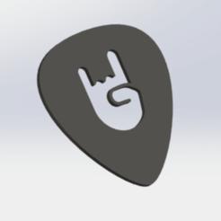Télécharger fichier STL Plectre de guitare • Plan pour imprimante 3D, matthainsie