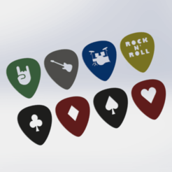 efrqeart.png Download free STL file Guitar Pick Selection Pack • Model to 3D print, HC3DPrints