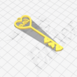 Download free 3D printing templates Key To My Heart - Key Ring, matthainsie