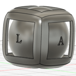 sphere in cube 2.png Download free STL file Sphere in a cube • 3D printable object, LA_PR
