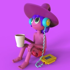 render clancy.jpg Download STL file clancy of the midnight gospel • 3D printable object, santychava16