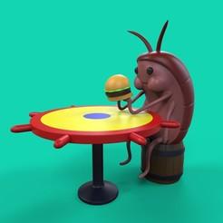 Descargar archivo 3D cucaracha de bob esponja, santychava16