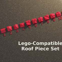 lego_roof_render.jpg Download free SCAD file Lego Compatible Roof Transition Pieces (OpenSCAD) • 3D print object, David1729
